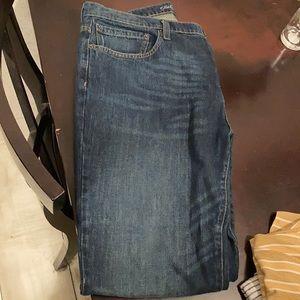 Men's straight fit blue jeans